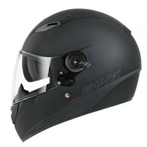 Shark Vision-R Shark Vision-R setter en ny standard når det gjelder helhjelmer med gode detaljer og høy finish. Hjelmen har ett extra stort synsfelt og visir åpning som er 25% større enn andre Shark hjelmer. Ytterskall i multiaxial fiber. Hjelmen leveres med Panorama anti-schratch og anti-fog visir. Innerforet er utagbart og kan vaskes. Easy-fit pad for brillebrukere, og meget god ventilasjon. Hjelmen har innebygdt solvisir og AutoSeal visir system. Vision-R er klargjort for Sharktoot intercom. Vekt 1450g.