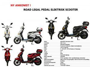 El-Scooter u/skilt