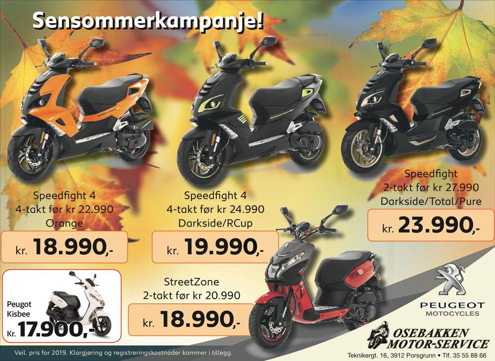 sensommer-kampanje peugeot scootere